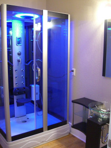 Shower Enclosure Lighted