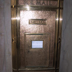 River Plaza Building Lobby's Original Wall Mailbox