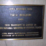 River Plaza Building Lobby's YMCA Historic Plaque