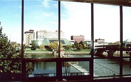 View across Cedar River from Typical Office